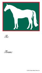 Gift Tag: Green Horse - Item # GT Green