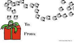 Gift Tag: Hoofprints - Item # GT Hoofprints