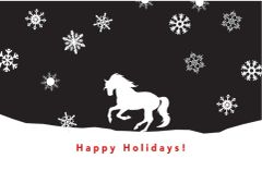 Gift Card/Money Holder: Christmas Horse with Snowflakes - Item # GE X 4