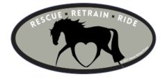 Laptop, Cell Phone & Helmet Sticker: Rescue, Retrain, Ride - Item # HS Rescue