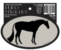 Euro Horse Oval Sticker: Conformation Horse Euro Sticker - Item # ES In Hand