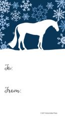 Gift Tags in BULK: Blue Snowy Scene with Conformation Hunter - Item # GT X 205 BULK