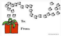 Gift Tags in BULK: Hoofprints - Item # GT X Hoofprints BULK