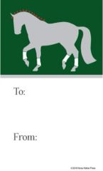 Gift Tags in BULK: Dressage with Green - Item # GT X Dressage 3 BULK
