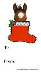 Gift Tags in BULK: Foal in Stocking - Item # GT X Foal BULK