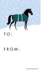 Gift Tags in BULK: Graphic Horse in Snow - Item # GT X Graph BULK