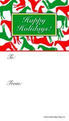 Gift Tags in BULK: Red & Green Horses - Item # GT X R&G BULK