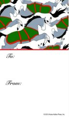 Gift Tags in BULK: Horses with Blanket - Item # GT X Blanket BULK