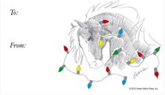 Gift Tags in BULK: Horse with Lights - Item # GT X HWL BULK