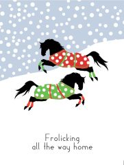 BOXED Christmas Cards: Frolicking all the way home - Item # BX Xmas 2