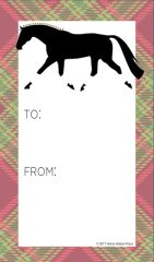 Gift Tag: Trotter with Christmas Plaid - Item # GT X 26