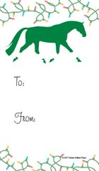 Gift Tags in BULK: Trotting Horse wrapped in Christmas Lights - Item # GT X 27 BULK