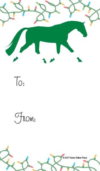 Bulk Christmas Lights.Gift Tags In Bulk Trotting Horse Wrapped In Christmas Lights Item Gt X 27 Bulk