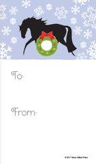 Gift Tags in BULK: Horse with Heart & Wreath - Item # GT X 129 BULK