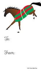 Gift Tags in BULK: Striped Blanketed Bay Bucking Horse - Item # GT X 18 BULK