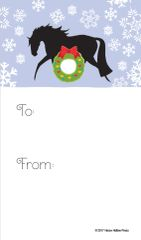 Gift Tag: Horse with Wreath - Item # GT X 129