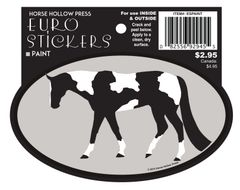 Euro Horse Oval Sticker: Paint Euro Sticker - Item # ES Paint