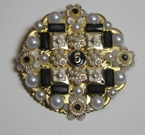 SOLD! 1689 Madam Coco Number 5 Rounded Huge Brooch