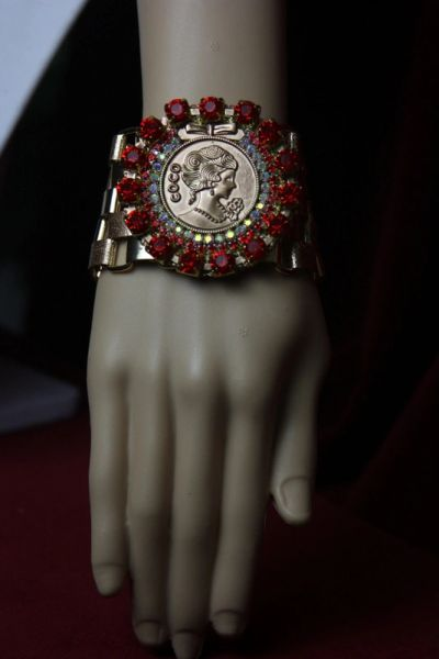 1734 Madam Coco Red Crystal Bracelet