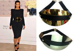 286 Designer Inspired Massive Gold Mirrow Waist Belt