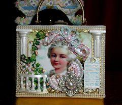 SOLD! 2236 Marie Antoinette GardenStunning Embellished Handbag Trunk