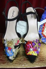 SOLD! 2383 Designer Inspired Nautical Marine Embellished Shoes Size 8