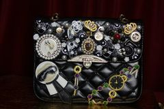 SOLD! 2487 Madam Coco KIDS Embellished Brooches Handbag