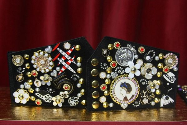 3142 Madam Coco Embellished Brooches Waist Corset Belt