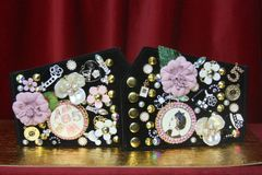 SOLD! 3143 Madam Coco Embellished Brooches Pink Waist Corset Belt
