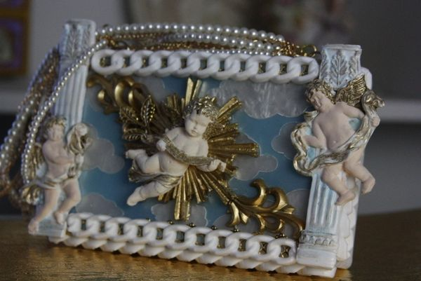 SOLD! 43 Cherubs Clouds Adorable Clutch Handbag