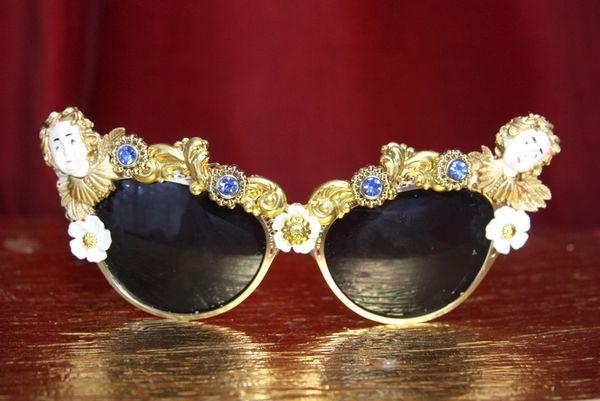 3289 Gold Filigree Baroque Angels Cherubs Embellished Sunglases