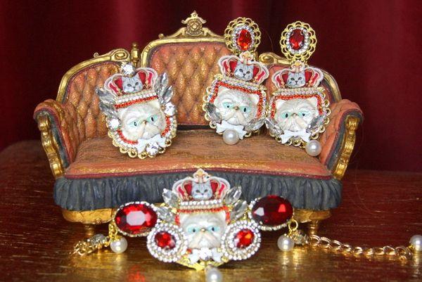 3318 Baroque Enamel Cat Crown Royal Bracelet