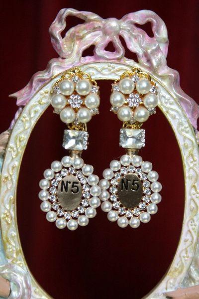 3470 Coco Perfume Bottle Crystal Earrings