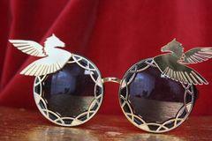 3784 Art Nouveau Embellished Mirror Pegasus Unusual Sunglasses