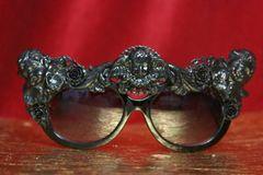 3893 Baroque Embellished Hand Painted Enamel Cherubs Angels Sunglasses