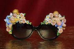 3894 Baroque Embellished Hand Painted Vivid Musical Enamel Cherubs Angels Sunglasses