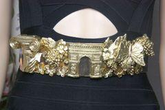 4003 Roman Column Gold Grapes Butterfly Corset Waist Belt
