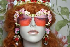 4093 Florida Hand Painted Flowers Hands Love Pink Embellished Sunglasses