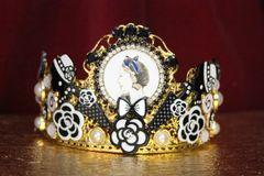4391 Madam Coco Charms Tall Crystal Crown Headband