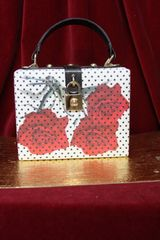 3333 Polka Dot White with Red Roses Purse/Handbag