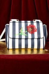 3206 Poppy Embroidery Illusion Leather Purse/Handbag