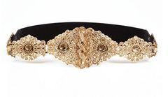 5026 Baroque Runway Designer Inspired Gold Filigree Waist Gold Belt Size S, L, M