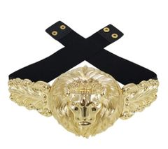 5105 Baroque Runway Designer Inspired Gold Huge Lion Waist Gold Belt Size S, L, M