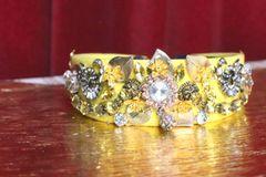 5282 Baroque Elegant Gold Yellow Embellished Flower Headband