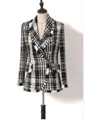 5554 High End Black and White Designer Jacket Blazer