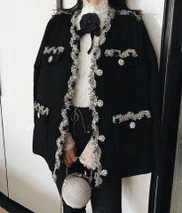5555 High End Black and Silver Designer Jacket Blazer