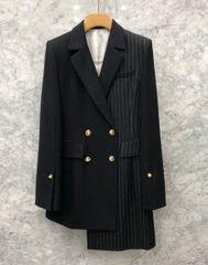 5557 High End Black Designer Formal Jacket Blazer