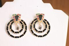 5710 Madame Coco Number 5 Elegant Statement Earrings