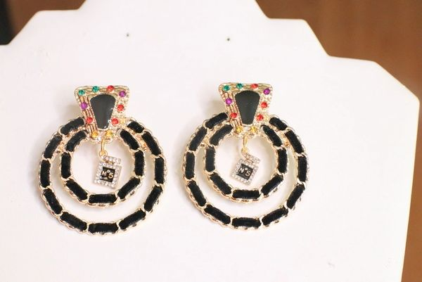 5710 Madame Coco Number 5 Elegant Statement Earrings