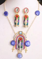 5771 Virgin Mary Genuine Solar Quartz 3D Effect Necklace